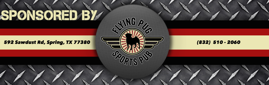 SPONSORED BY FLYING PUG SPORTS PUB